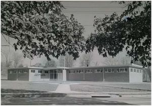 Rendering of 1955 library