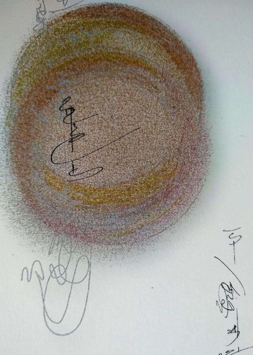 detail of circle drawing